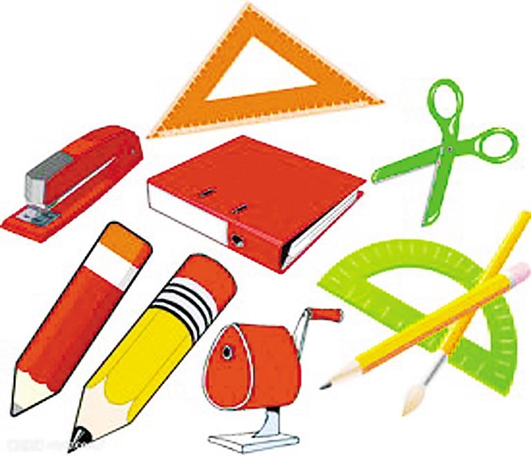 小学生文具盒矢量图
