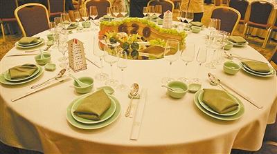 中餐宴会摆台比赛规则及评分标准图片