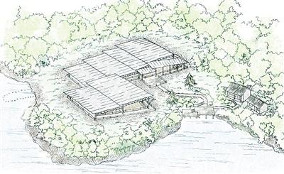 后司岙窑址保护展示效果手绘图